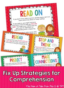 Fix Up Strategies For Comprehension