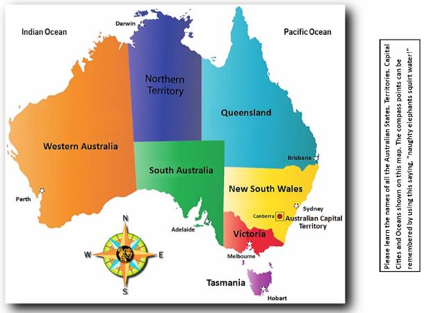The Australian States Territories and Capital Cities Map Quiz For