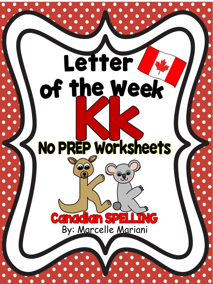 LETTER K WORKSHEETS- NO PREP WORKSHEETS AND ART ACTIVITIES
