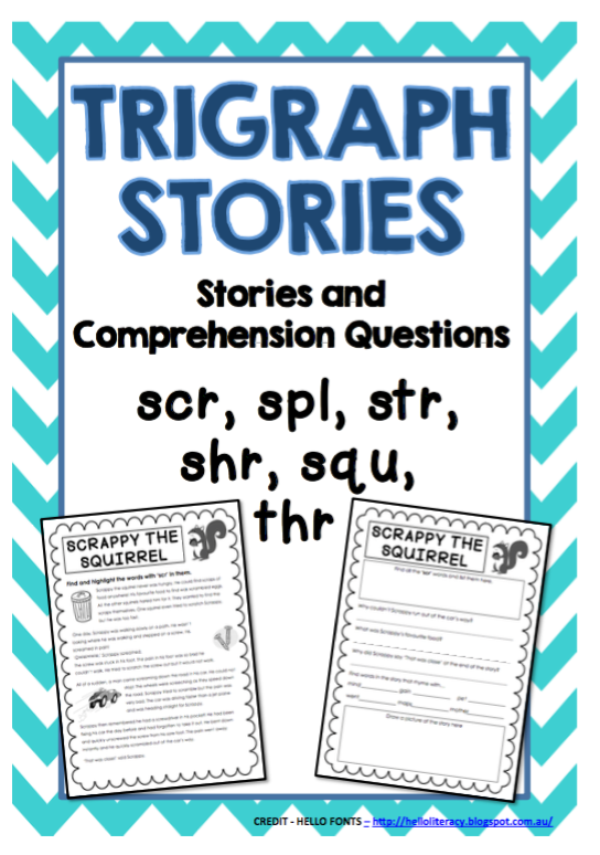 Trigraph Stories - Reading Comprehension Passages - scr, spl, str ...