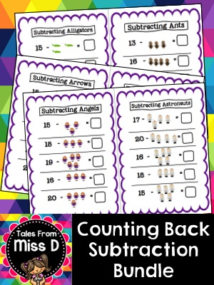 Counting Back, Subtraction Bundle