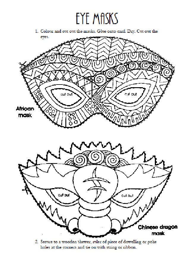 African and Chinese Dragon Eye Masks