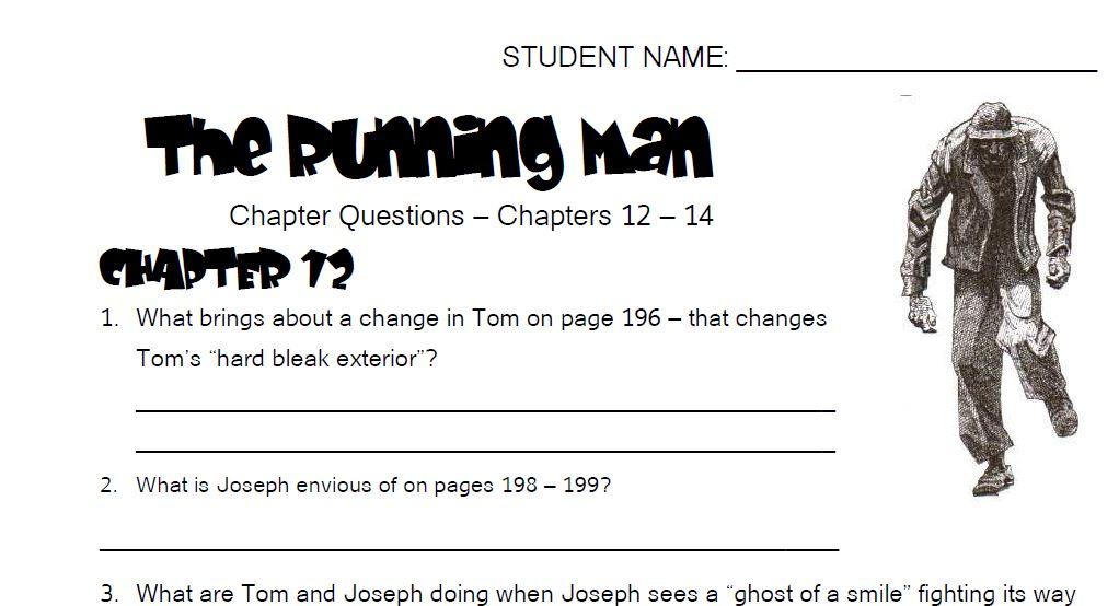 the running man michael gerard bauer chapter summaries