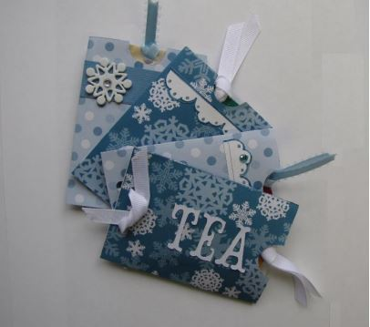 Christmas Crafts - Tea Sachet Gift Pouches