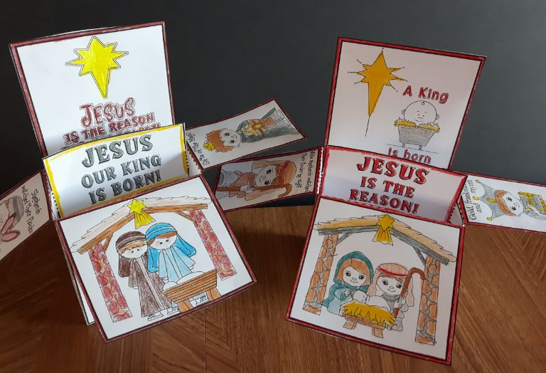 Jesus is Born!  POP-UP Box Craftivity