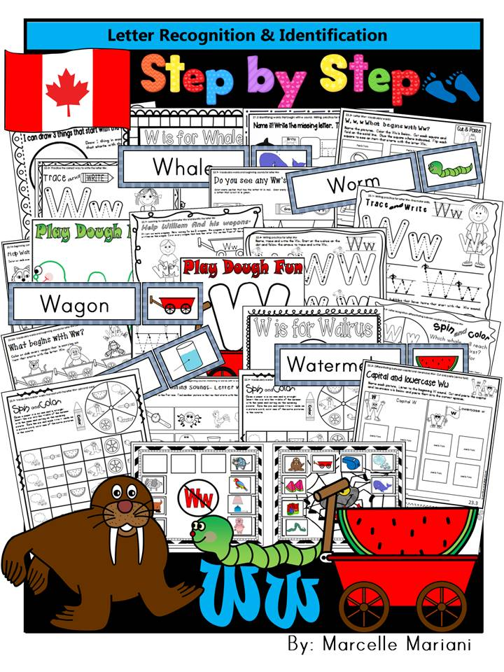 Letter of the week-LETTER W Activity PACK-letter recognition & identification