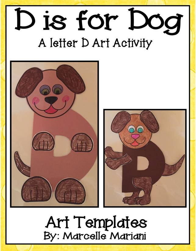 Letter of the week-Letter D-Art Activity Templates- D is for Dog