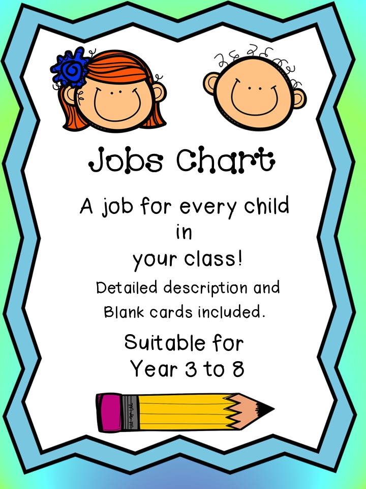 Jobs Chart: A Job for Every Child in Your Class