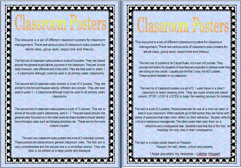 Classroom Management - Classroom Rules Pack | Teach In A Box