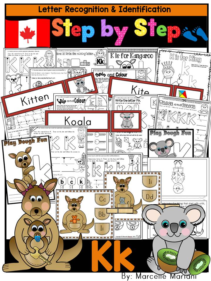 Letter of the week-LETTER K Activity PACK-letter recognition & identification