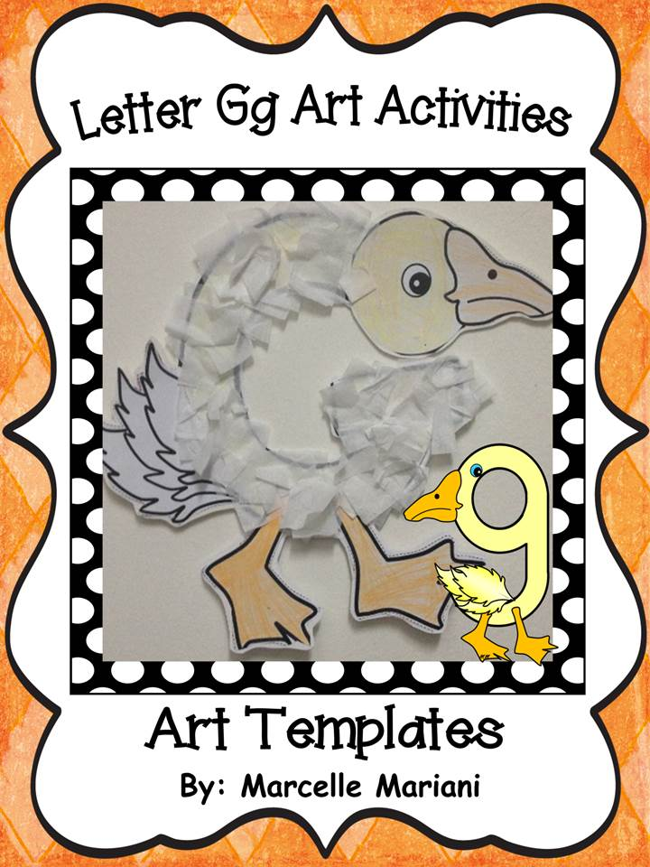 Letter of the week-Letter G-Art Activity Templates- A letter G Craftivity