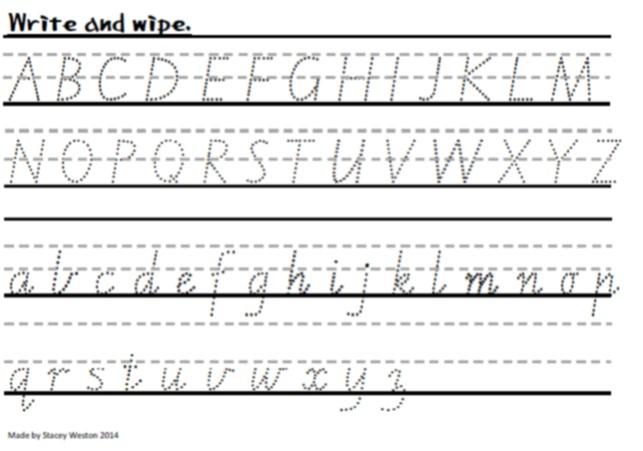 Write and Wipe - Victorian Modern Cursive : Teach In A Box