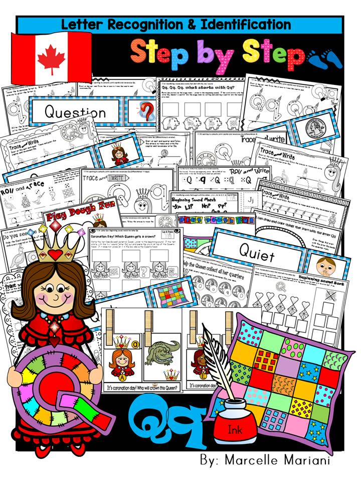 Letter of the week-LETTER Q Activity PACK-letter recognition & identification