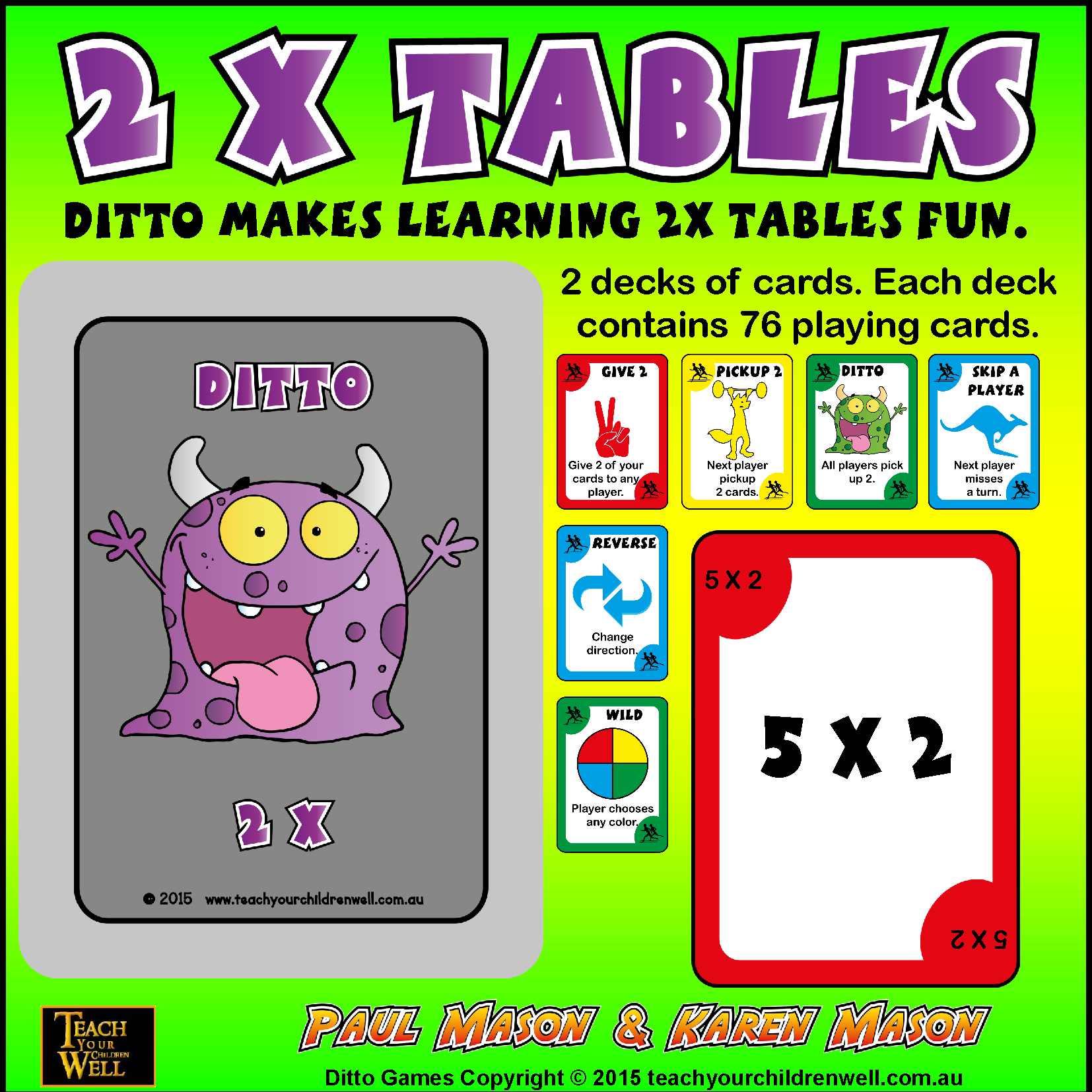 2 Times Tables Fun With Ditto Teach In A Box