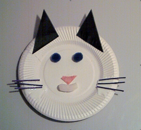 ... paper plate cat face. Back to Product Catalogue & How to make a paper plate cat face | Teach In A Box